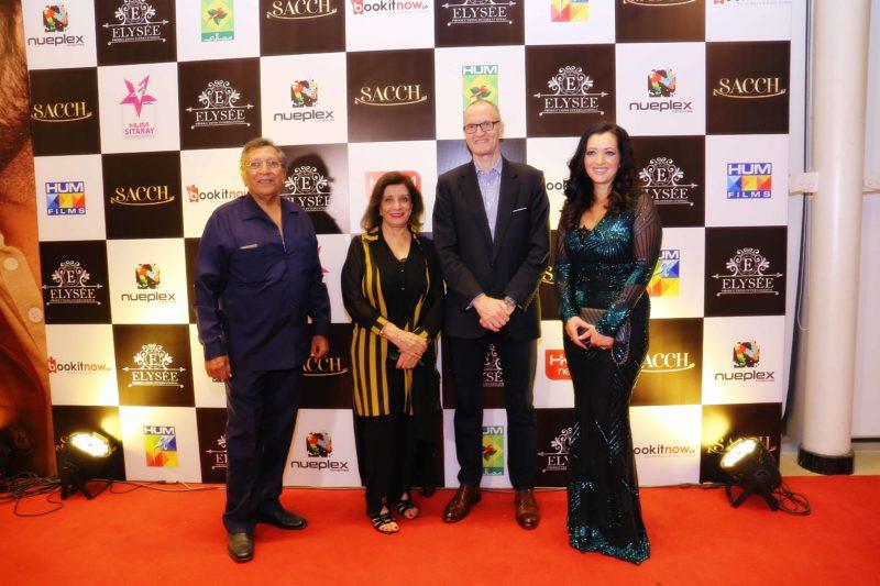Talat Hussain, Sultana Siddiqui, British Deputy High commissioner Mike Nithavrianakis and Tasmina Sheikh (1)
