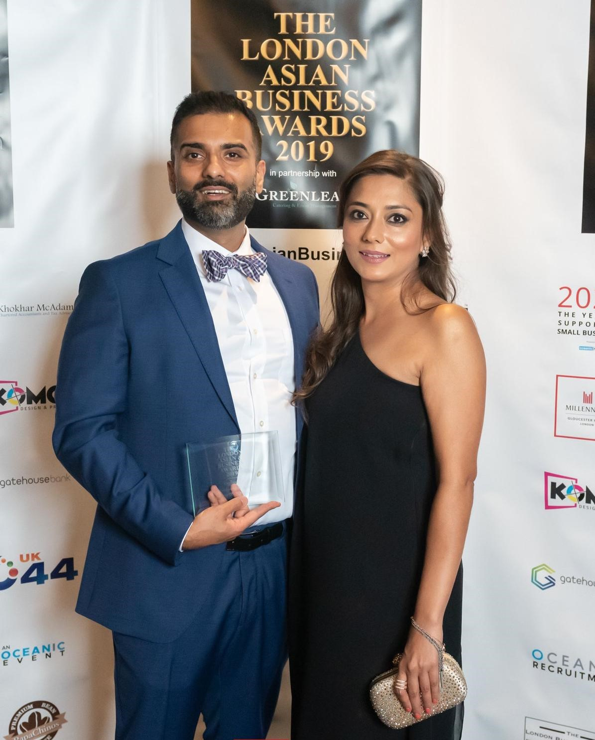 Aqib Fayyaz and Aida Khan at Asian Business Awards
