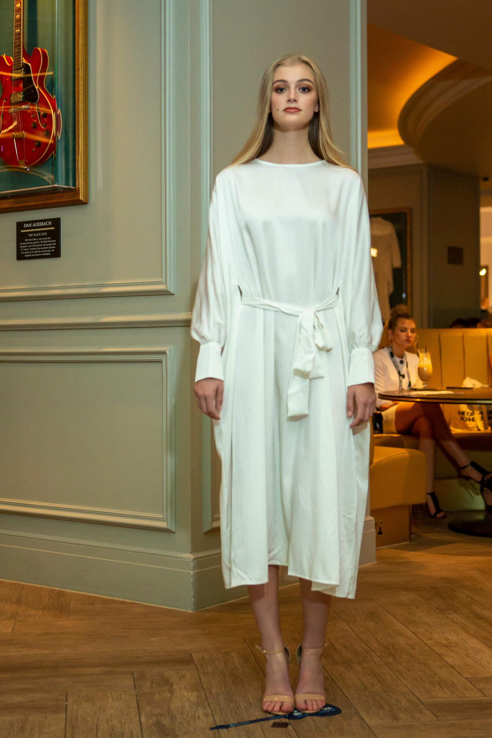 Designer: Omar Mansoor. Picture by Colin Chau/Fashion London